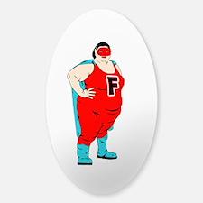Fatty Patty! Sticker (Oval)