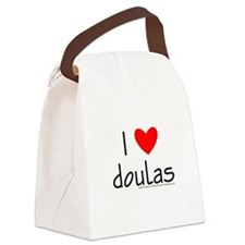 I (Heart) Doulas Canvas Lunch Bag