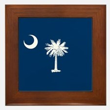 South Carolina Flag Framed Tile