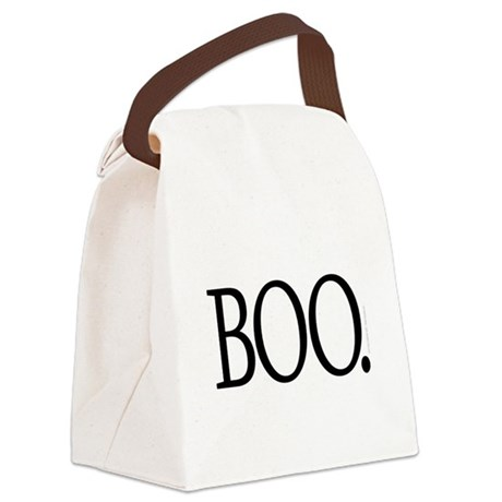 BOO funny Halloween Canvas Lunch Bag