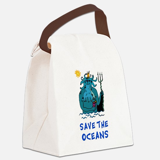 Save the Oceans Canvas Lunch Bag