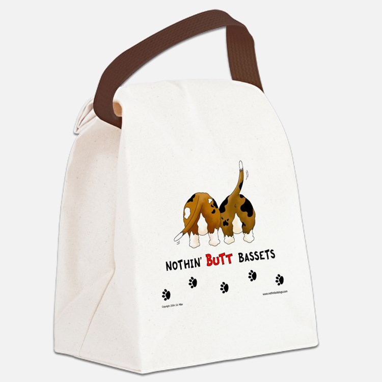 Nothin' Butt Bassets Canvas Lunch Bag