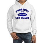 Property of a Canadian Sailor Hooded Sweatshirt