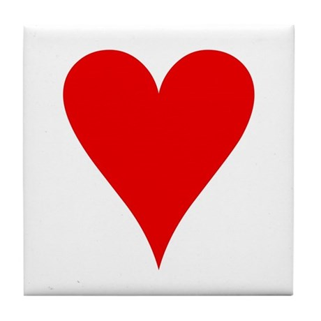 Hearts Playing Card Symbol Tile Coaster by symbolsonstuff