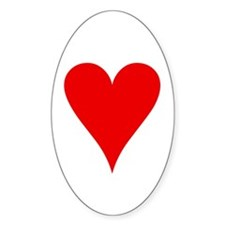 Hearts Playing Card Symbol Oval Decal