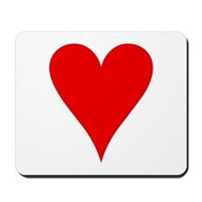 Hearts Playing Card Symbol Mousepad