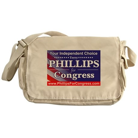 Phillips for Congress Messenger Bag