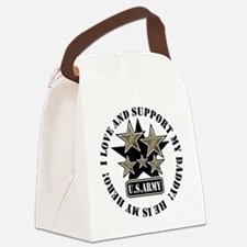 Daddy Kids Army Love Support Canvas Lunch Bag