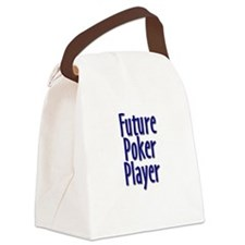 Future Poker Player Canvas Lunch Bag