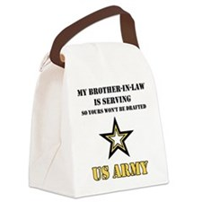 Army - Brother-in-law Serving Canvas Lunch Bag