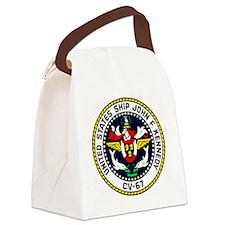 USS JOHN F. KENNEDY Canvas Lunch Bag