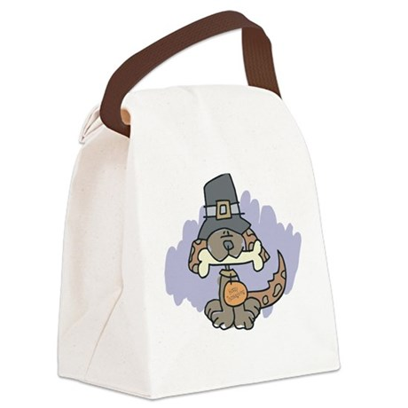 Thanksgiving Dog Canvas Lunch Bag