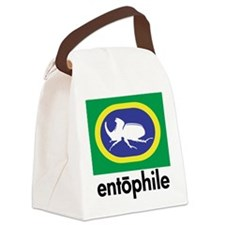 Rhino Beetle Blue Canvas Lunch Bag