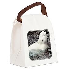 Beluga Head Canvas Lunch Bag