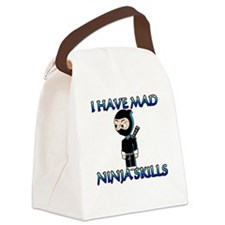 Mad Ninja Skills Canvas Lunch Bag