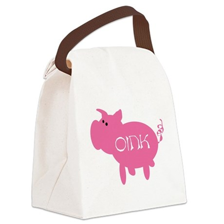 Oink the Pig Canvas Lunch Bag