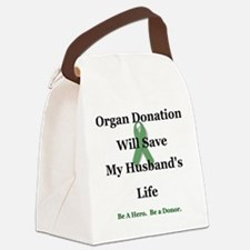 Husband Organ Donation Canvas Lunch Bag
