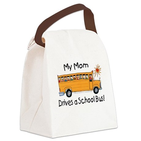 Mom Drives a Bus - Canvas Lunch Bag
