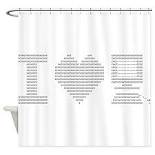 I Heart My Computer Shower Curtain