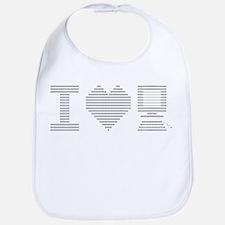 I Heart My Computer Bib