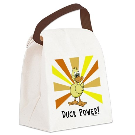 Duck Power Canvas Lunch Bag