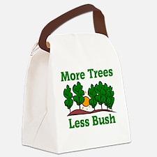 More Trees, Less Bush Canvas Lunch Bag
