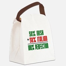 50% Irish + 50% Italian = 100 Canvas Lunch Bag
