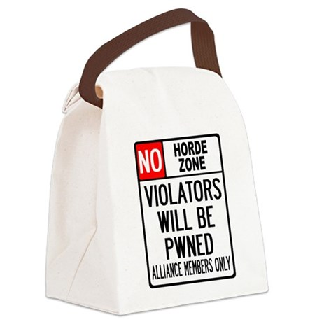 No Horde Zone Canvas Lunch Bag