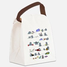 Otters by the Sea Canvas Lunch Bag