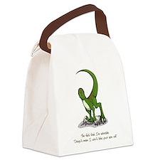 Adorable Velociraptor Canvas Lunch Bag