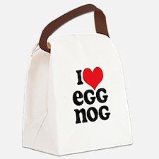 Retro I Love Egg Nog Canvas Lunch Bag