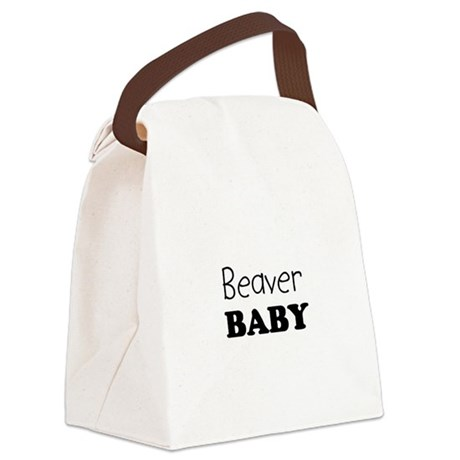 Beaver baby Canvas Lunch Bag