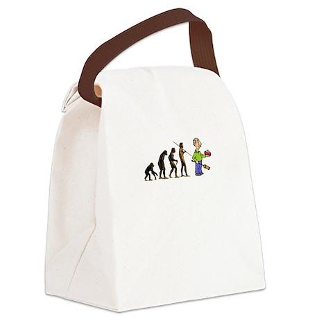 Evolution of Curling Canvas Lunch Bag