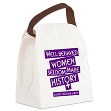 WELL-BEHAVED WOMEN Canvas Lunch Bag