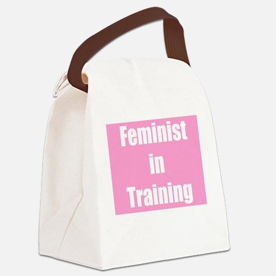 Cute Feminist Canvas Lunch Bag