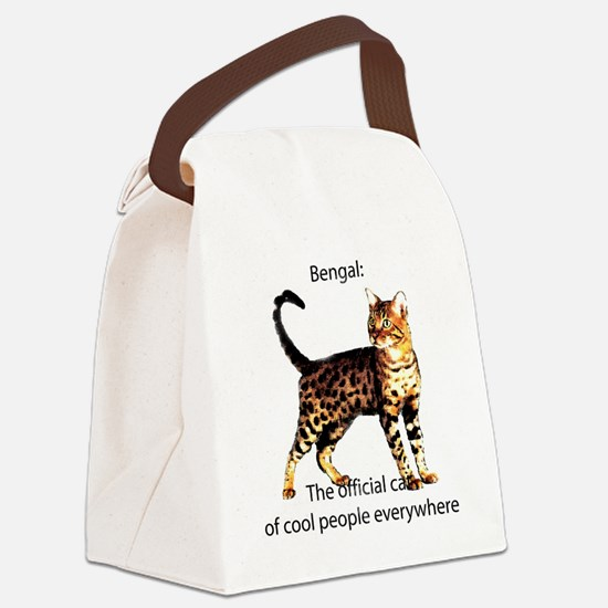 Cool people love bengals Canvas Lunch Bag