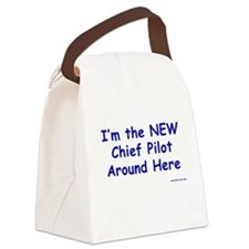 New Chief Pilot (Boy) Canvas Lunch Bag