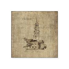 Vintage Charleston St Michael Church Square Sticke