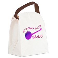 Canvas Lunch Bag: Mommy Plays banjo pink