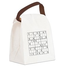 Cute Sudoku Canvas Lunch Bag