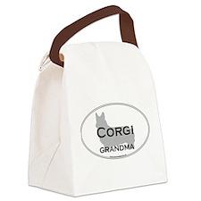 Pembroke Corgi GRANDMA Canvas Lunch Bag