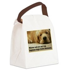 Happiness is Golden Canvas Lunch Bag