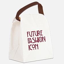 """""""Future Fashion Icon"""" Canvas Lunch Bag"""