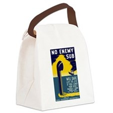 No Enemy Gun Canvas Lunch Bag