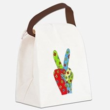 Flowery Peace Canvas Lunch Bag