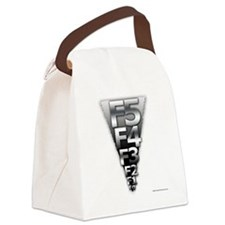 Unique Tornado chaser Canvas Lunch Bag