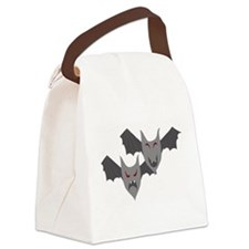 Comedy Tragedy Bats Canvas Lunch Bag