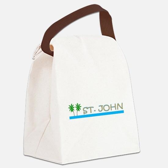Unique Caribbean Canvas Lunch Bag