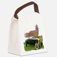Cute Hot rod Canvas Lunch Bag