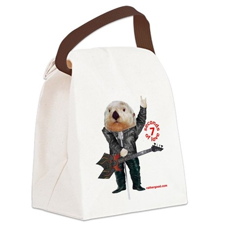 Rock Otter Canvas Lunch Bag